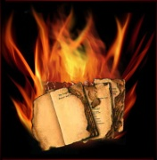 The burning books!