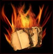 The burning books!