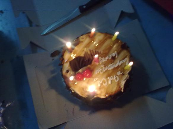 Last year's cake. My boyfriend calls me MPS. No one knows what it stands for, that's why they wrote it on my cake. ;-)