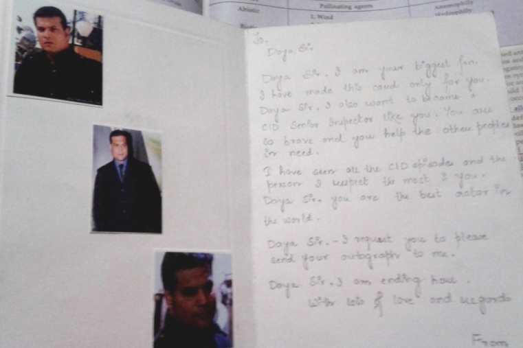 The card she made for her favorite actor in the whole world...