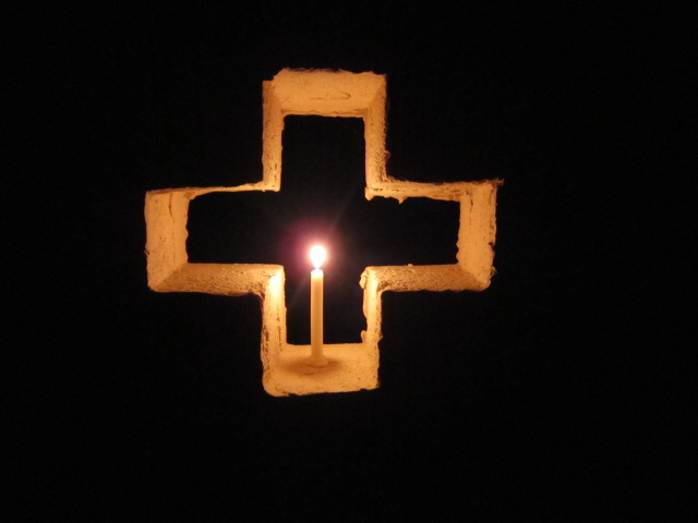 A Lightened Candle During Diwali